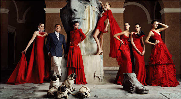 Valentino, his clothes, his girls and his pugs