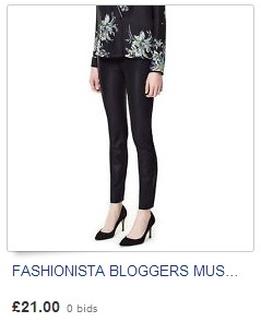 FASHIONISTA BLOGGERS MUST HAVE! BLACK FAUX LEATHER SKINNY PANTS LEGGINGS ZARA M