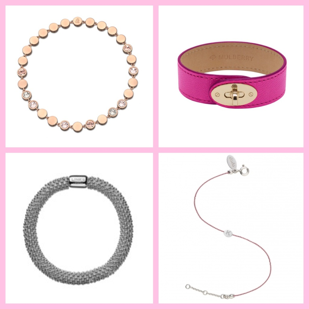 Clockwise from top left: Lola and Grace, Mulberry, Oliver Bonas, Links of London