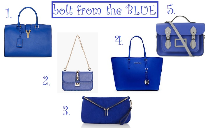 1. Yes Saint Laurent 2. Valentino 3. Karen millen 4. Michael kors 5. The Cambridge satchel company