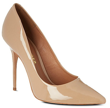 Kurt Geiger Ellen patent leather shoes in nude
