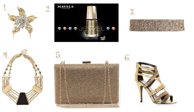 1. Tiffany 2. Mavala 3. River Island 4. River Island 5. La Moda 6. New Look