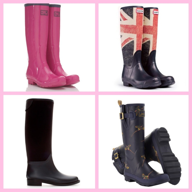 Clockwise from Top Left: Paul's Boutique, Hunter, Zara, Joules