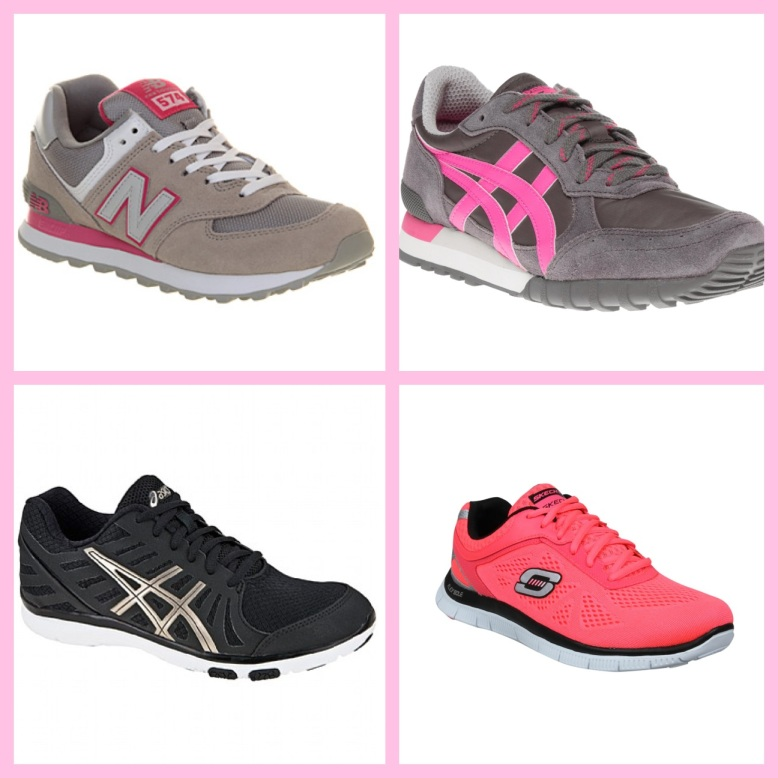 Clockwise from top left: New Balance, Onitsuka Tiger, Sketchers, Asics