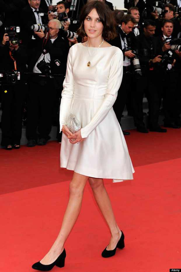 Alexa Chung arrives for the screening of Sleeping Beauty, at the 64th international film festival, in Cannes, southern France.