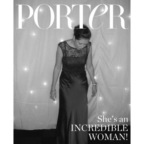 My entry in the Porter Incredible Woman Cover contest