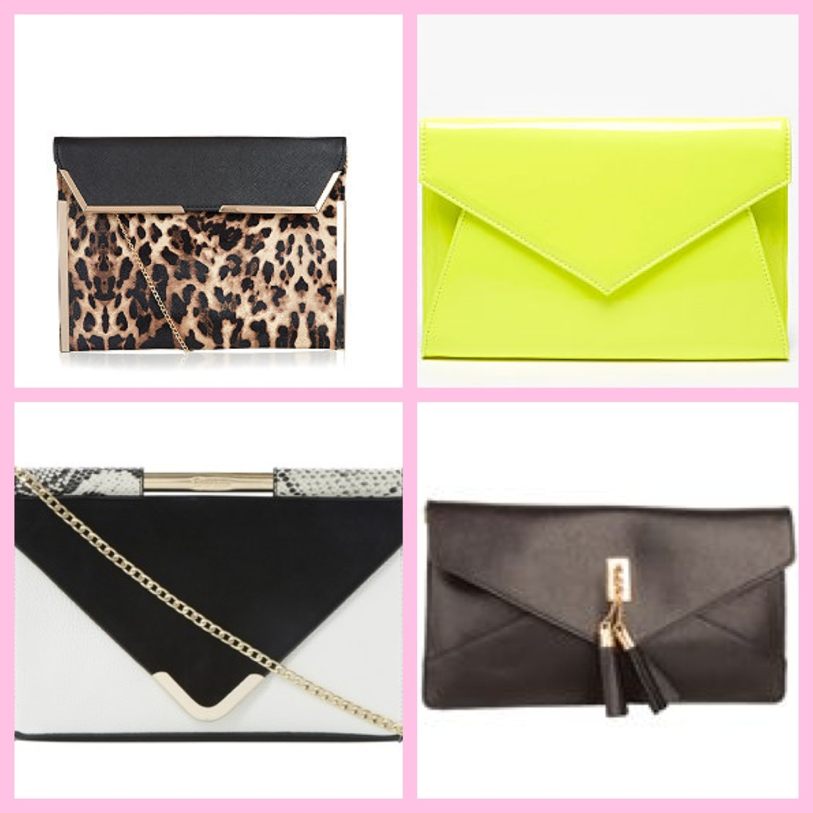 Clockwise from top left: New Look, Bank Fashion, Moda In Pelle, Dune