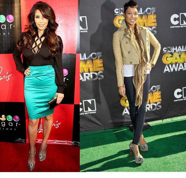 Kim Kardashian and Monique rock the look