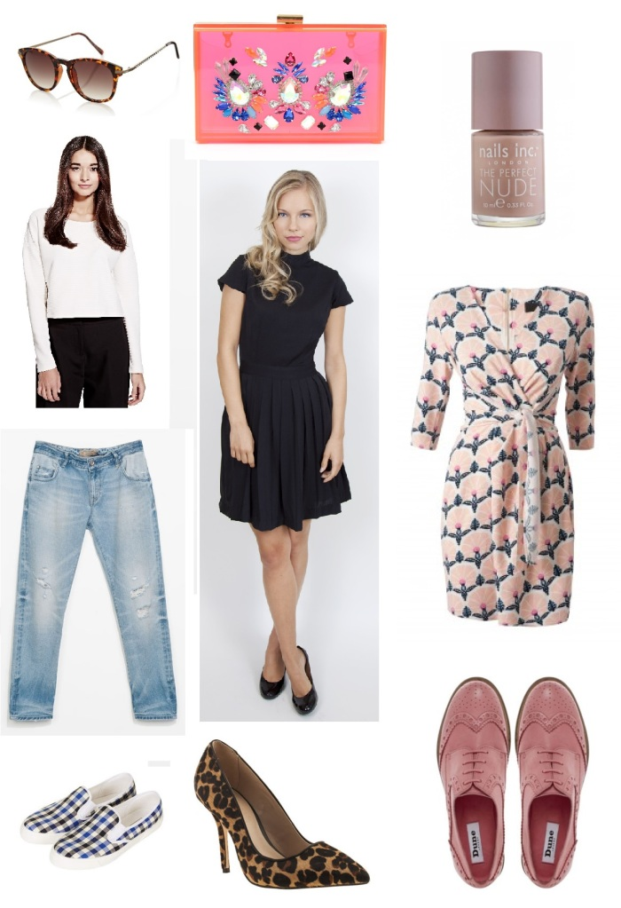 Sunday Best: from top down: Nails Inc, Closet Clothing, Dune