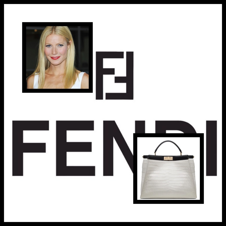 Gwyneth Paltrow and her chic version of the Fendi Peekaboo tote