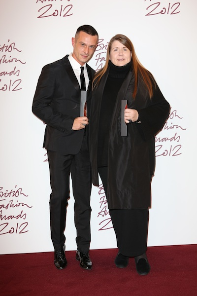 With Jonathan Saunders at the British Fashion Awards 2012