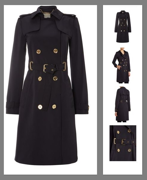 The Michael Kors Long Sleeve Belted Trench