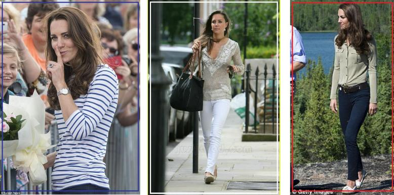 Striped Top, White Jeans, comfy loafers. The Kate Middleton look