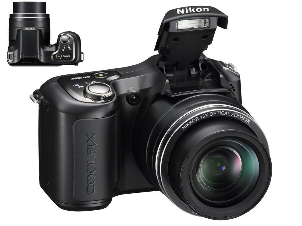 Nikon Coolpix L100 10mp digital camera with 15x optical zoom