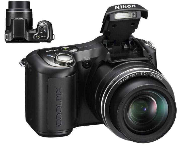 Nikon Coolpix L100 10mp digital camera with 15x optical zoom