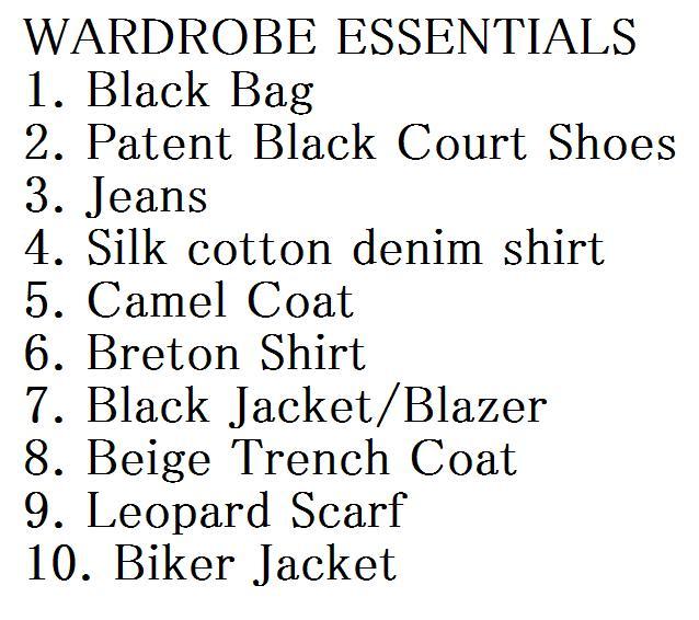 A shopping list
