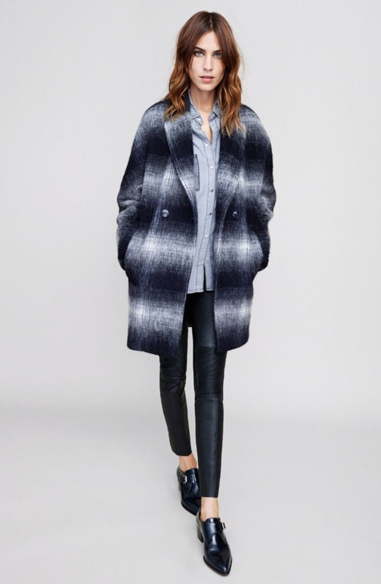 Alexa and her Tommy Hilfiger plaid coat